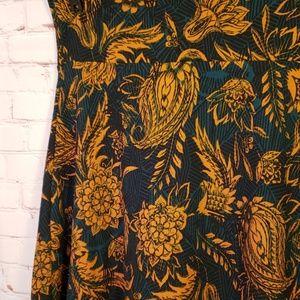 ■ Lularoe■ (XL) Floral Paisley Azure Skirt